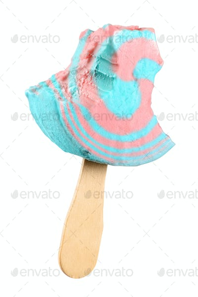Twisted popsicle isolated