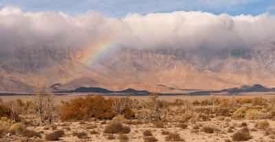 Storm Clouds Rainbow Owens Valley Sierra Nevada Mountain Range