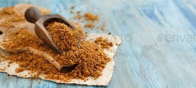 Brown unrefined cane sugar