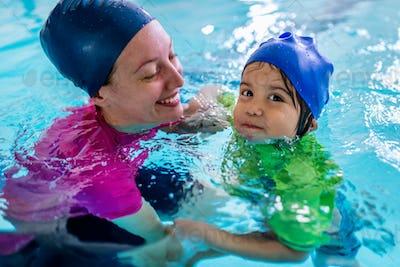 Swimming class for children