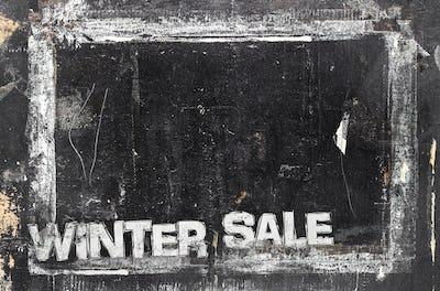 Chalkboard Winter Sale