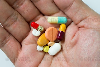Hand full of pills
