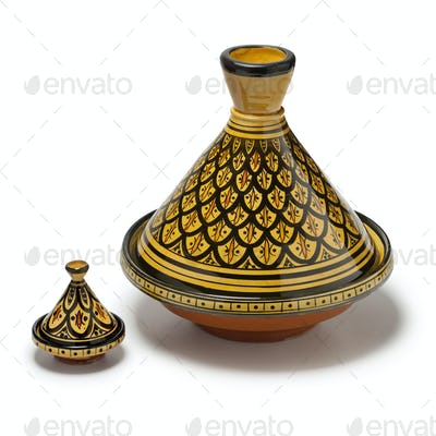 Moroccan handmade decorated tagines