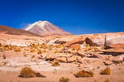 Dry and desolate landscape in Bolivia