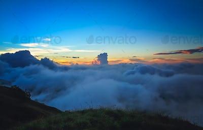 View from the Gunung Rinjani volcano