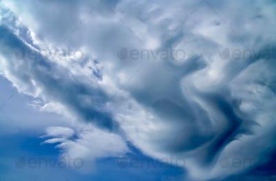 Strange and stormy sky above New Zealand