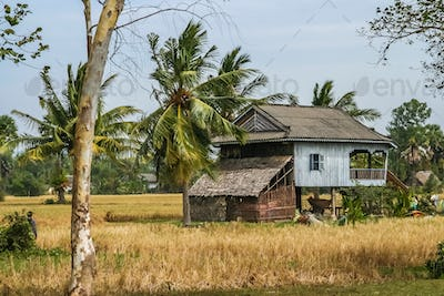 Village house in cambodian countryside