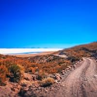 Remote road towards Salar de Uyuni