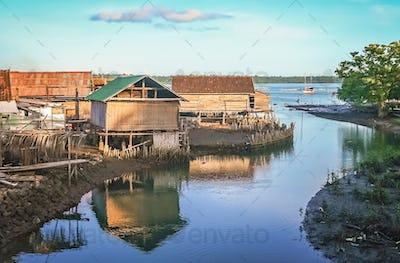 Fisherman village in Sumbava