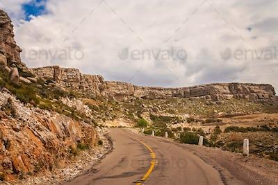 Empty road through Argentina