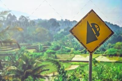 Steep road of Sumatra
