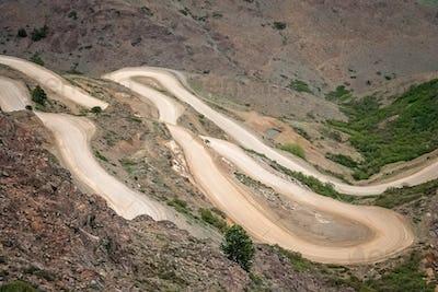 Road from Mirador Bajada del Rahue