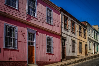 Colourful Street in Valparaiso