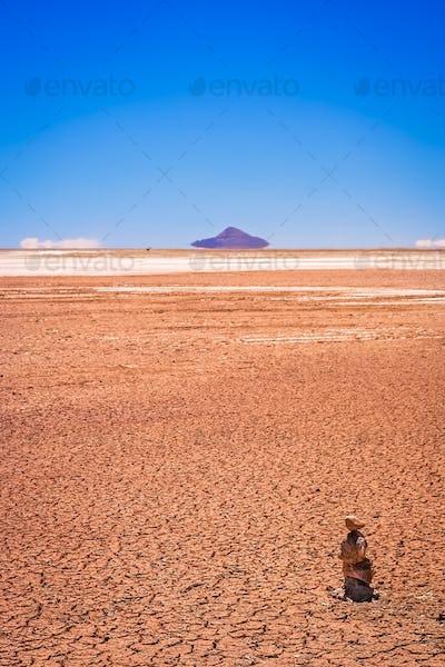 Drought in Altiplano in bolivia