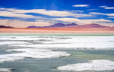 Salty hot springs in Altiplano