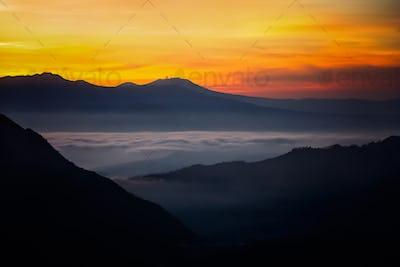 Dawn over Gunung Bromo in Java