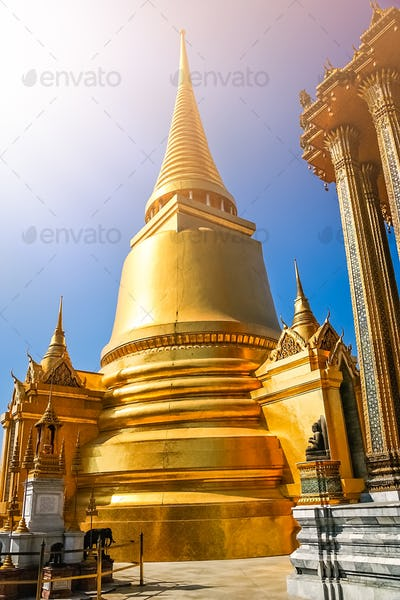 Golden Stupa in the Grand Palace in Bangkok