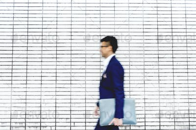 Blurred image of a business man