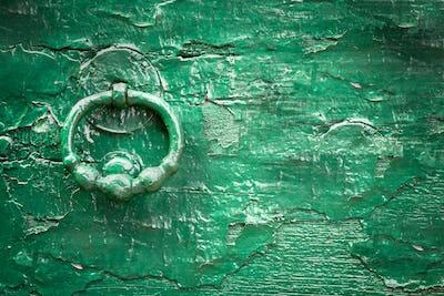 Green wood old knock door