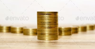 Money savings - golden coins
