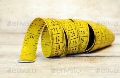 Tape measure - numbers background