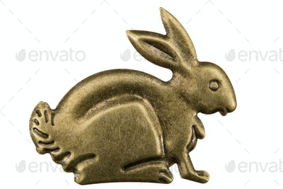 Filigree in the form of a profile of a hare, decorative element
