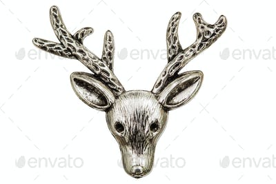 Filigree in the form of a deer's head, decorative element for ma