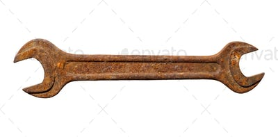 Old rusty spanner