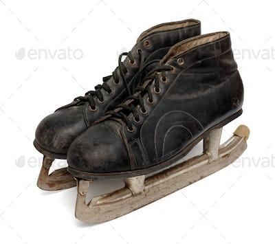 Pair of old ice skates