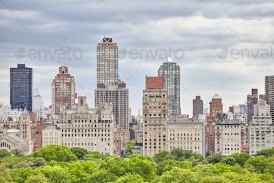 Manhattan skyline over the Central Park, NYC.