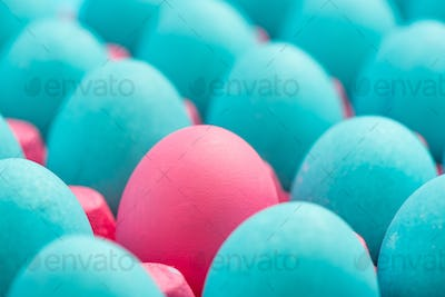 Be different conceptual visual art of eggs