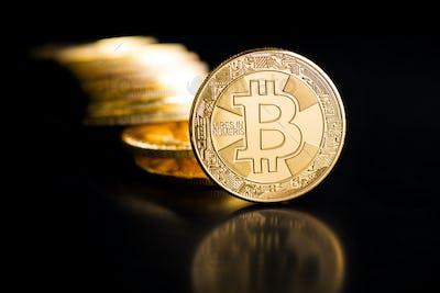 Bitcoin. Digital cryptocurrency.