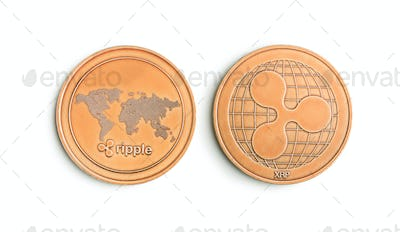 Golde ripple coins.