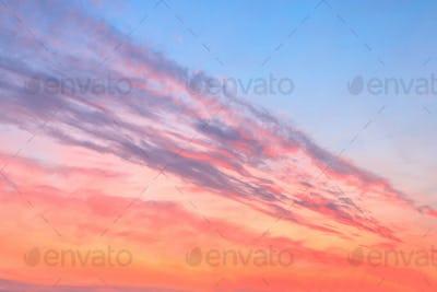 beauty colorfully northern sunset sky