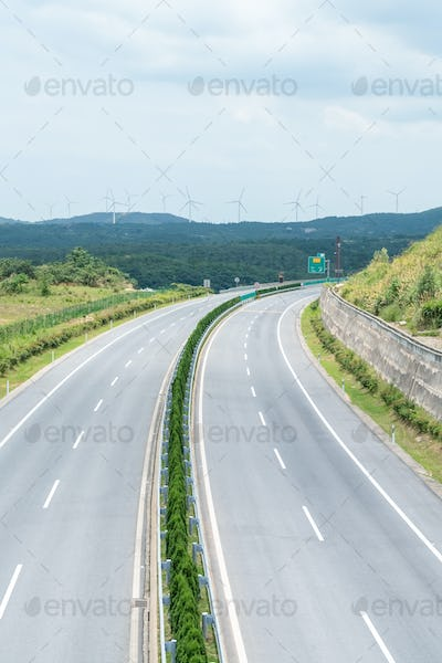 curve highway background