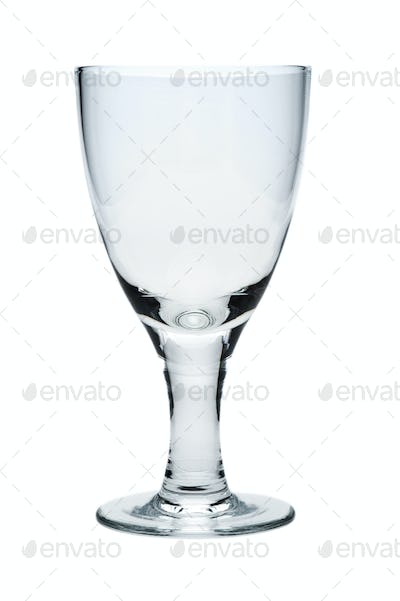 Empty glass, isolated on a white background