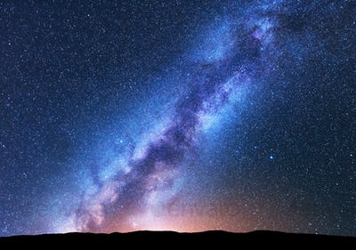 Space background with amazing Milky Way and stars