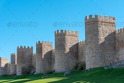 The city wall of Avila in Spain