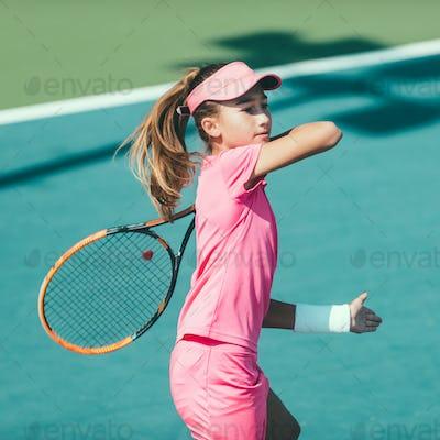 Tennis girl blue 6104 f3