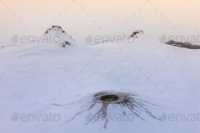 Mud Volcanoes in winter