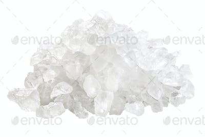 Coarse rock sea salt pile, paths