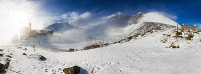 Skalnate tarn and Lomnicky peak, famous destinations in High Tat