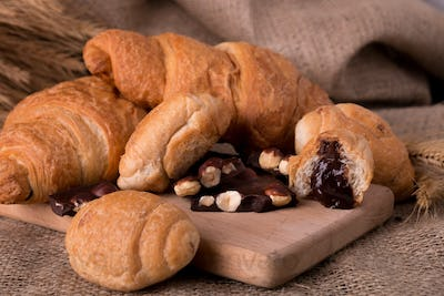 Chocolate croissants on board