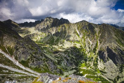 Majestic mountain landscape. The Tatras, Slovakia.
