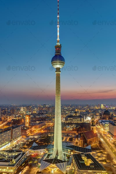 The famous Television Tower and downtown Berlin