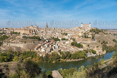 View of the old city of Toledo in Spain