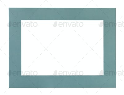 flat green blue passe-partout for picture frame