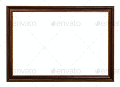 classic dark brown painted wooden picture frame