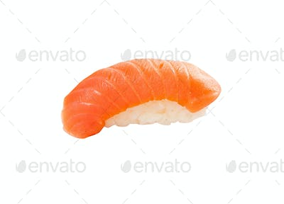 tuna sushi isolated on white background