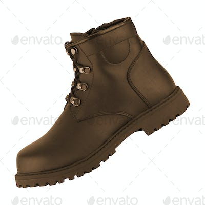 Men's classic brown leather shoes isolated